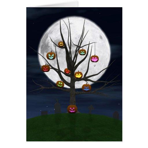 Tarjeta de felicitación colorida del árbol de la J