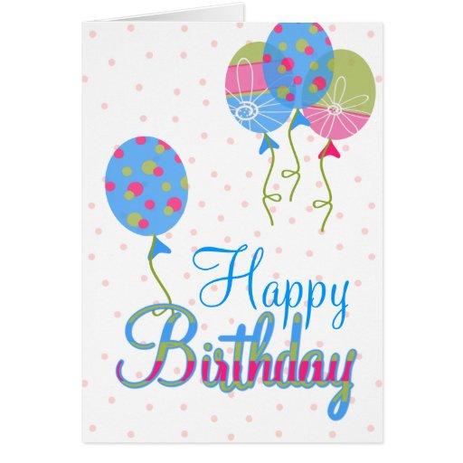 Tarjeta de felicitación colorida del cumpleaños de