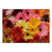 Tarjeta de felicitación colorida del día de madre