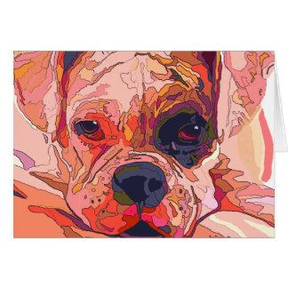 Tarjeta de felicitación colorida del perro del box