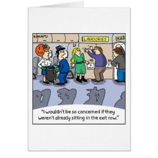 Tarjeta de felicitación cómica Jetlagged--Servicio