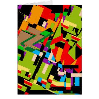 ¡Tarjeta de felicitación con diseño abstracto bril