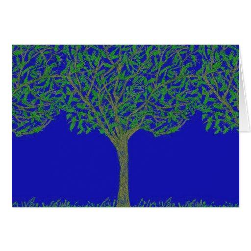 Tarjeta de felicitación con diseño del árbol