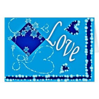 Tarjeta de felicitación con el diseño azul precios