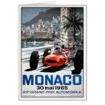 Tarjeta de felicitación con el poster de Mónaco Gr