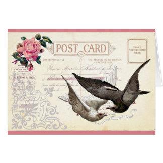 Tarjeta de felicitación con imagen del vintage