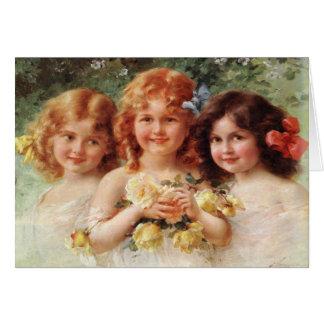 Tarjeta de felicitación con la pintura de Emilio V