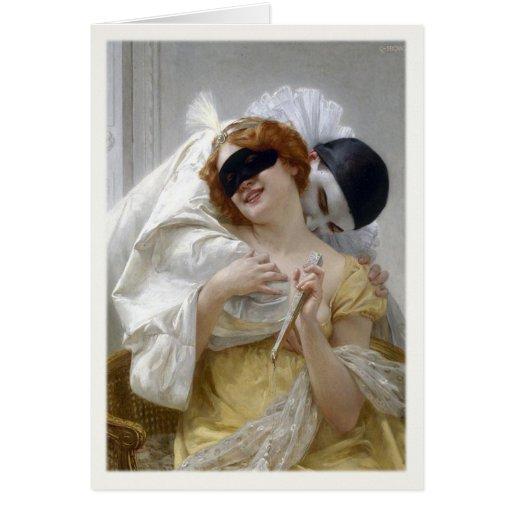 Tarjeta de felicitación con la pintura de Guillaum