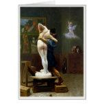 Tarjeta de felicitación con la pintura de Jean-Leó