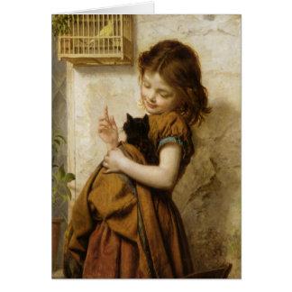 Tarjeta de felicitación con la pintura de Sophie G