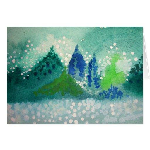 tarjeta de felicitación con la pintura impereceder
