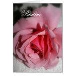 Tarjeta de felicitación conocida color de rosa ros