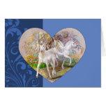 Tarjeta de felicitación - corazón del unicornio de