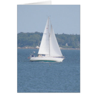 Tarjeta de felicitación costera de la navegación d