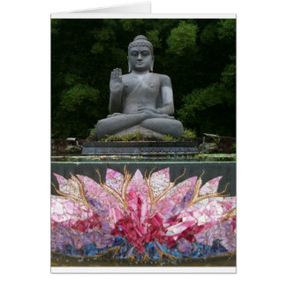 Tarjeta de felicitación cristalina de Buda