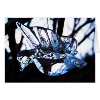 Tarjeta de felicitación cristalina del colibrí