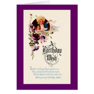 Tarjeta de felicitación - cumpleaños
