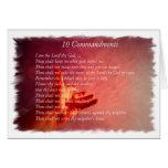 Tarjeta de felicitación de 10 mandamientos