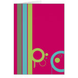tarjeta de felicitación de 4 colores