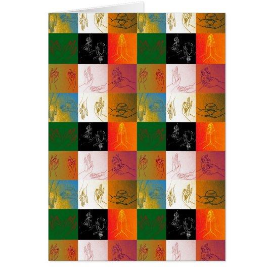 Tarjeta de felicitación de 9 Mudras
