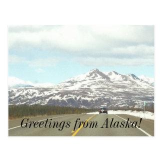 tarjeta de felicitación de Alaska del moutain Tarjeta Postal