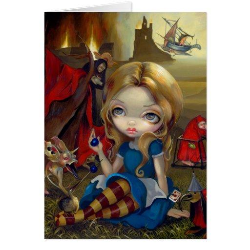 """Tarjeta de felicitación de """"Alicia y de los monstr"""