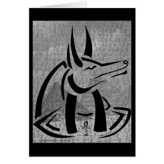 Tarjeta de felicitación de Anubis
