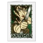 Tarjeta de felicitación de Artemis