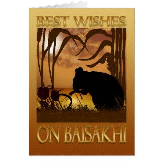 Tarjeta de felicitación de Baisakhi - de Vaisakhi