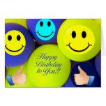 Tarjeta de felicitación de Baloons del cumpleaños
