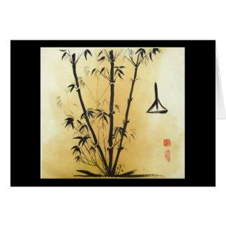 Tarjeta de felicitación de bambú de la balanza