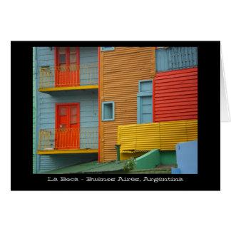 Tarjeta de felicitación de Boca Buenos Aires la Ar