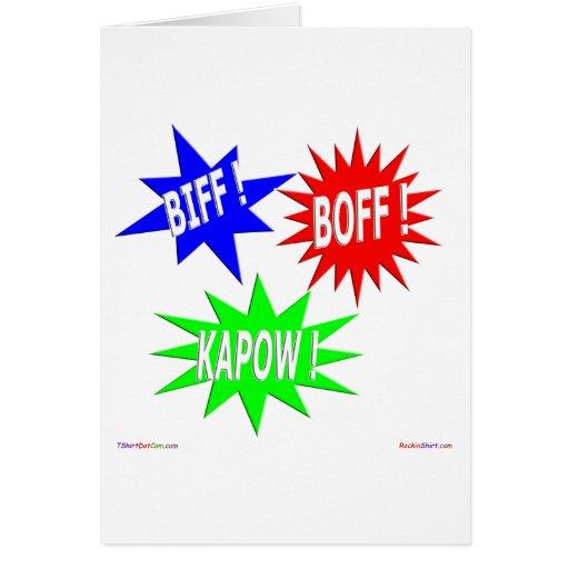 Tarjeta de felicitación de Boff Kapow del Biff