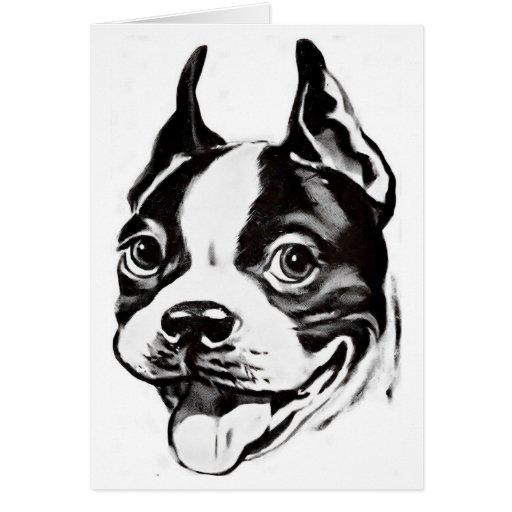 Tarjeta de felicitación de Boston Terrier