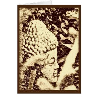 Tarjeta de felicitación de Buda del bosque