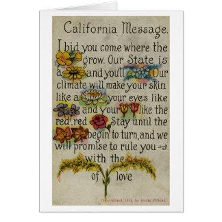 Tarjeta de felicitación de California (1914)