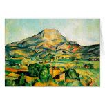 Tarjeta de felicitación de Cezanne Mont Sainte-Vic