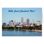 Tarjeta de felicitación de Cleveland Ohio de la op