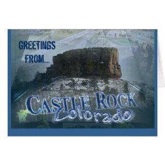 Tarjeta de felicitación de Colorado de Castle Rock