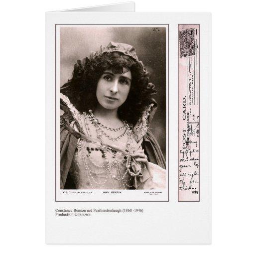 Tarjeta de felicitación de Constance Benson de la
