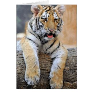 Tarjeta de felicitación de Cub de tigre