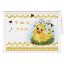 Tarjeta de felicitación de CuddleCreek® SunnyDuck