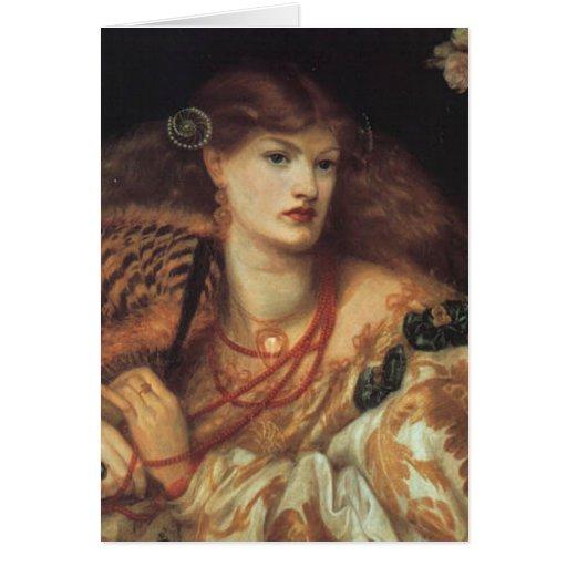 Tarjeta de felicitación de Dante Rossetti Monna Va