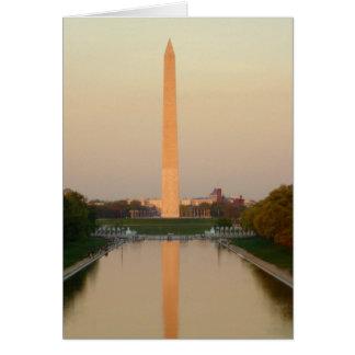 Tarjeta de felicitación de DC del monumento de Was