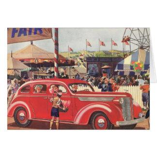 tarjeta de felicitación de Desoto de los años 40