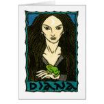 Tarjeta de felicitación de Diana