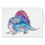 Tarjeta de felicitación de Dimetrodon