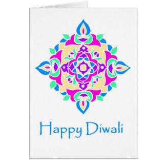 Tarjeta de felicitación de Diwali con el modelo de