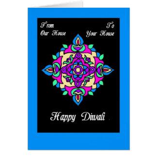Tarjeta de felicitación de Diwali de nuestra casa