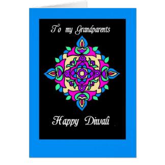 Tarjeta de felicitación de Diwali para los abuelos